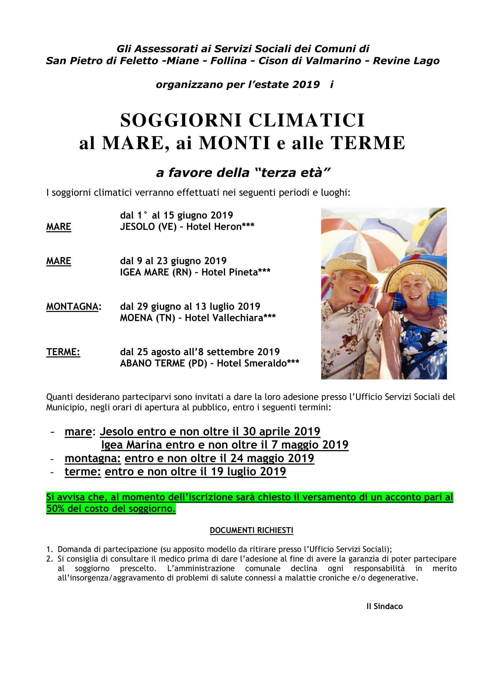 Comune di Revine Lago - Soggiorni climatici al mare, ai monti e alle ...